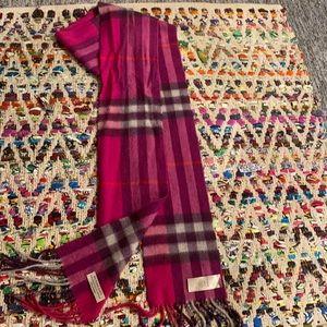 Purple Burberry scarf